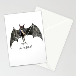 Halloween Welcome to the Ball Vampire Bat Greeting Card Stationery Cards