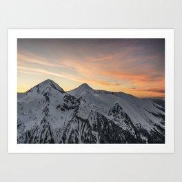Peaks II Art Print
