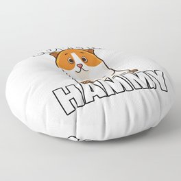 Hamster Pet Rodent Funny Role Floor Pillow