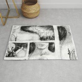 El Portero - Surreal Draw - Psychological Visual Story Rug
