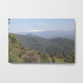 Distant Snow Topped Moutains from Cicekli Ula Metal Print