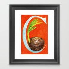 C is for Coconut Framed Art Print
