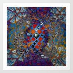 Mosaic Abstract Art Print