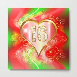 Sweet Red 16 Metal Print