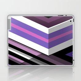 Abstract Lined Purple Laptop & iPad Skin
