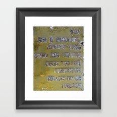 Pickup Lines - Golden Baby Framed Art Print