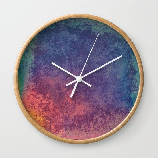Colors of opal abstract texture Wall Clock