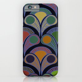 Peacock tail art déco pattern  for fine home decoration iPhone Case