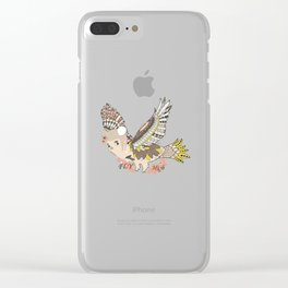 Flying high (a little girl) Clear iPhone Case