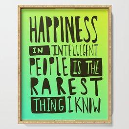 Hemingway: Happiness Serving Tray