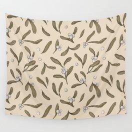 Mistletoe Pattern Wall Tapestry