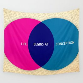 Life Begins At Conception Wall Tapestry