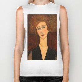 "Amedeo Modigliani ""Portrait of a woman"" Biker Tank"