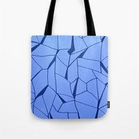 blueprint Tote Bags featuring BluePrint by Elina Larsson