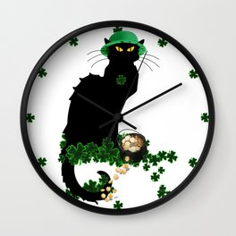 Le Chat Noir - St Patrick's Day Wall Clock