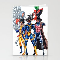 xmen Stationery Cards featuring Z fighters crossover xmen by Unic art