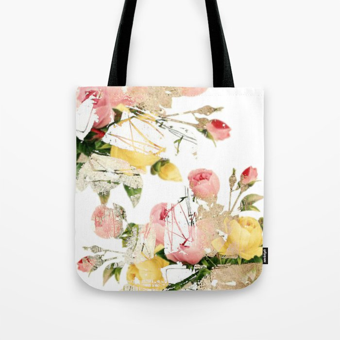 Frozen roses Tote Bag