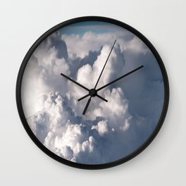 Fluffy clouds formation Wall Clock