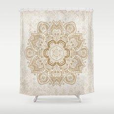 Mandala Temptation in Cream Shower Curtain