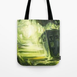 Tardis In The Swamp Tote Bag