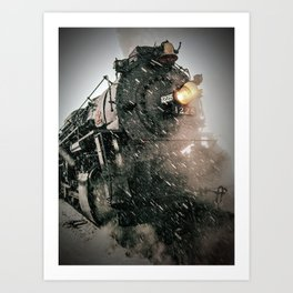 The 1225 in the snow. Art Print