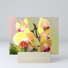 Yellow Orchids, afternoon sun Mini Art Print
