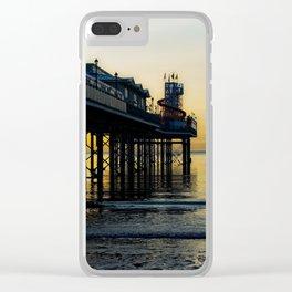 Paignton Pier At Sunrise Clear iPhone Case