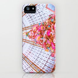 Stained Glass Dome at Galeries Lafayette Paris at Christmas iPhone Case