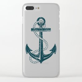 Vintage Anchor Clear iPhone Case