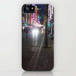 Granville St after dark 1 iPhone Case