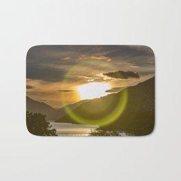 Golden Sunset on Queenstown and Lake Wakatipu Bath Mat