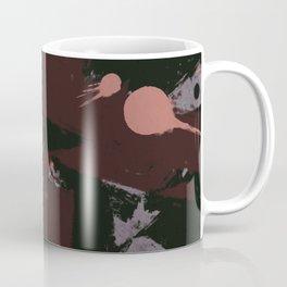 Maroon Splattered Paint Coffee Mug