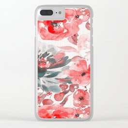 FLORAL PATTERN32 Clear iPhone Case