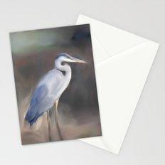 Blue Heron Paining  Stationery Cards