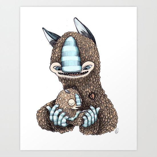 Creature family Art Print