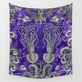 The Kraken (Purple - NoText, Alt.) Wall Tapestry