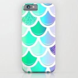 Beautiful Bright Sparkle Rainbow Mermaid Scales Pattern iPhone Case