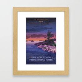 French River Provincial Park Framed Art Print