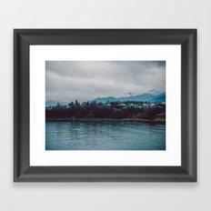 Mountain Town Framed Art Print
