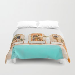 Turkish Holiday #painting #travel Duvet Cover