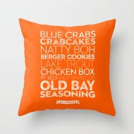 Baltimore — Delicious City Prints Throw Pillow