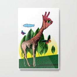 Girafe Metal Print