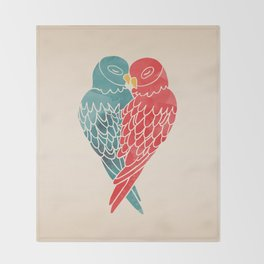 Love Birds Throw Blanket