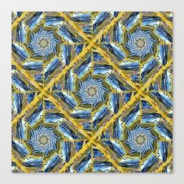 golden day kaleidoscope pattern Canvas Print