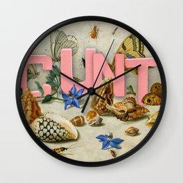 Cunt II Wall Clock