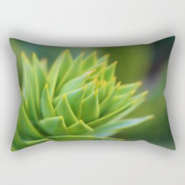 Macro Succulent Rectangular Pillow