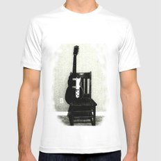 This Chair and Guitar Weren't Always So Lonely Mens Fitted Tee White MEDIUM