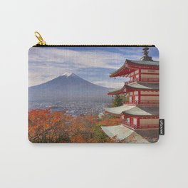 Chureito pagoda and Mount Fuji, Japan in autumn Carry-All Pouch