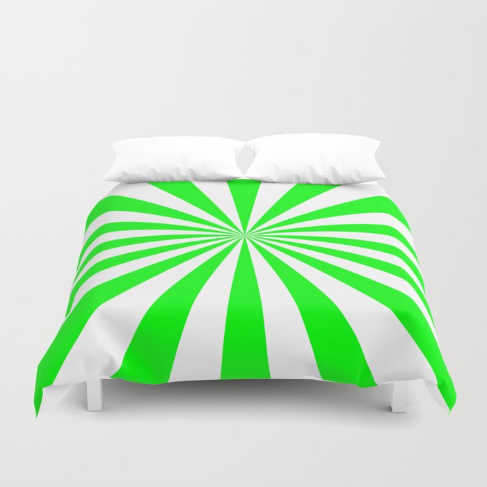 Starburst (Green/White) Duvet Cover