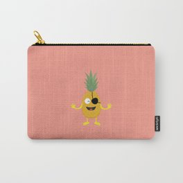 Pineapple Pirate with eye-patch T-Shirt D9ozq Carry-All Pouch